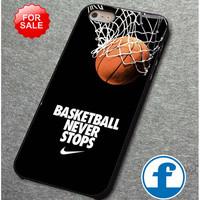 Nike-Basketball-Never-Stop for iphone, ipod, samsung galaxy, HTC and Nexus Phone Case