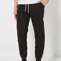 Black Terry Knit Jogger