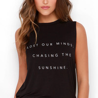 The Fifth Label Stay With Me Black Lost Our Minds Muscle Tee