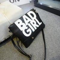 Print Alphabet Girl Stylish Korean Bags Shoulder Bags [6582660231]
