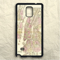 New York City Map Samsung Galaxy Note 3 Case