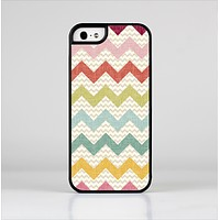 The Vintage Summer Colored Chevron V4 Skin-Sert Case for the Apple iPhone 5/5s