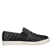 Steve Madden Ecentrcq - Black Quilted Slip-On Sneaker