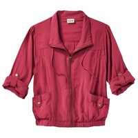 Mossimo Supply Co. Juniors Rolled Sleeve Challis Jacket - Assorted Colors