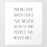 I'm in love with cities. Art Print by Sara Eshak