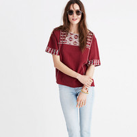 Embroidered Tee Top