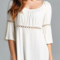 Weekend Ease Tunic Top - White
