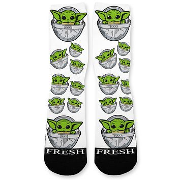 Meme the Child Custom Athletic Fresh Socks