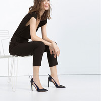 HIGH HEEL SHOES WITH BOW - High-heels-SHOES-WOMAN | ZARA United States