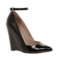 KG Cristal Pointed Wedge Ankle Strap Shoes at asos.com