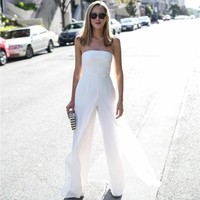 Angelina Strapless Wide Leg Jumpsuit