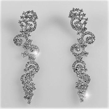 Rosalina Swirls Linear Chandelier Earrings | 77mm