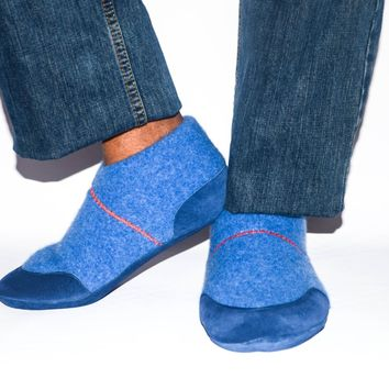 Unisex Wool House Slippers, Cashmere Shoes
