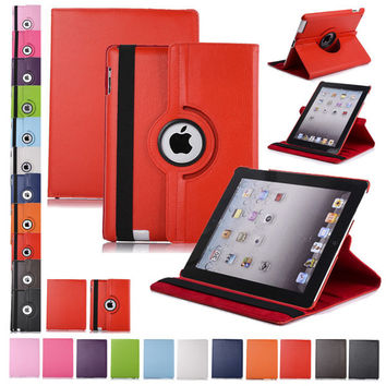 Free shipping New Pu Leather Rotating Case Smart Cover Stand For iPad mini Case Tablet Case