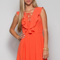 A Toast to Happiness Dress - Tangerine