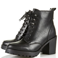 AMPLE Black Heavy Sole Boots - Sale - Sale & Offers - Topshop USA