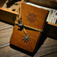 Vintage Handmade Anchor Refillable Leather Travelers Journals Diary Notepad Notebook