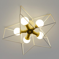 Modern White Star Solid Flust Mount Pentagon Lighting