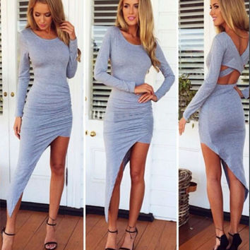 Forget Me Not Grey Tee Dress