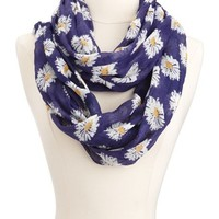 Daisy Print Infinity Scarf: Charlotte Russe