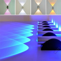 Indoor 2W LED Wall Lamp AC90-265V Acrylic lampshade material Aluminum Sconce bedroom Decorate Wall Light