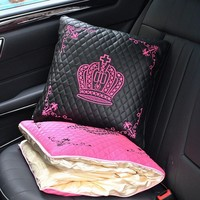 Backseat Crown Royalty Pillow and Blanket