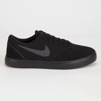 Nike Sb Check Boys Shoes Black/Black  In Sizes
