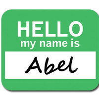 Abel Hello My Name Is Mouse Pad