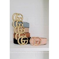 Textured Matte Gucci Inspired Belt | Colors