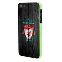 Liverpool FC Wood Style iPhone 5 Case Framed Green