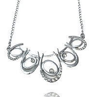Oh and Horse Shoe Chain Necklace
