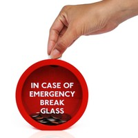 Emergency Money Box : Break Glass to get at your emergency cash