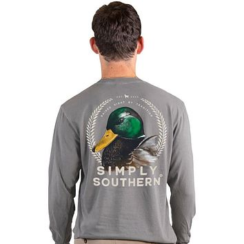 Simply Southern Duck Unisex Comfort Colors Long Sleeve T-Shirt