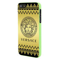 Versace Chevron Gold Edition iPhone 5 Case Framed Green