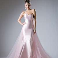 Long Evening Gown Prom Dress Formal Blush
