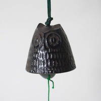 Cast Iron Windchime Small Brown Owl