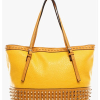 Studded Yellow Tote