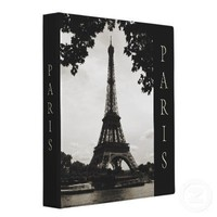 Black and White Paris binder from Zazzle.com