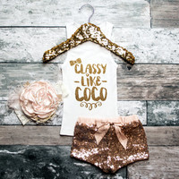 Baby Girl Clothes Classy Like Coco Fashion Tank Gold Baby Girl Shirt Hipster Baby Clothes Baby Gift White And Gold #32