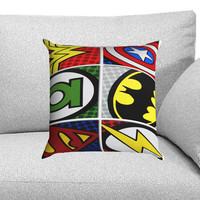 Pop Comic Super Hero Logo Custom Pillow Case for One Side and Two Side