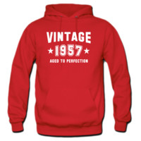 VINTAGE 1957 - Aged To Perfection - Birthday hoodie