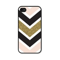 Chevron Geometric iPhone Case - iPhone 4 Case - iPhone 4s Case - iPhone 5 Case - iPhone 5s Case - Chevron iPhone 5c Case - Gold Pink Black