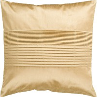 Solid Pleated Throw Pillow Brown