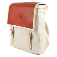 Leather and Canvas Hybrid Backpack