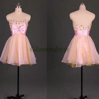 short cute crystal yarn party dresses with sequins cheap sweetheart beads dress for prom hot discount bow homecoming gowns under 150