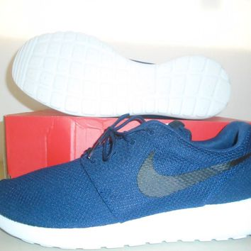 New Nike Roshe One Navy Blue White Running Shoes sz 9.5