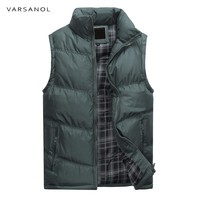 Vest Jackets For Men Winter Warm Cotton Outerwear Sleeveless Casual Regular Solid Top