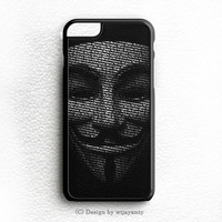 GUY FAWKES MASK iPhone 6 Plus Case Wijayanty.com