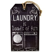 Laundry is Loads of Fun Hanging Tag | Shop Hobby Lobby