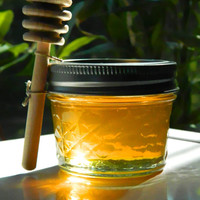 100 Honey Wedding Favors with Wooden Honey Dippers